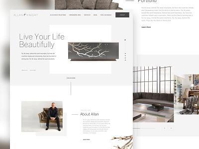 Interior Firm Website web ui design ui typography dallas parker peterson architecture interior design interior layout minimalism minimal clean web design