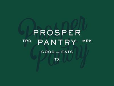 Prosper Pantry Concept