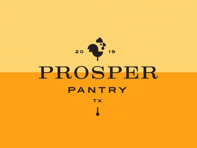 Prosper Pantry illustration dallas parker peterson typography mark brand identity food and beverage service food chicken tx texas prosper logo branding