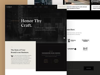 TOS Web Concept typography clean ux ui agency parker peterson grit texture web design dallas web branding brand