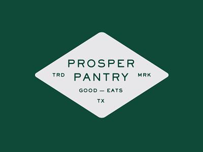 Prosper Pantry Badge type brand design branding typography americana clean green restaurant dining eating food texas dallas mark logo badge brand parker peterson