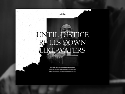 MLK Day Exercise design dallas parker peterson martin luther king website web design ux typography tear clean mlk ui web layout