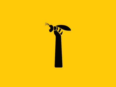 OBX Bee's: Maintenance and Repair black yellow graphic construction bee hammer outerbanks business hardware maintenance design logo