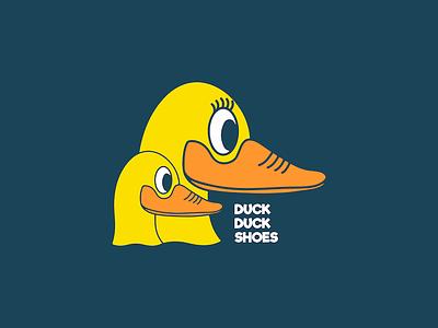 Duck Duck Shoes: Children's Shoe Boutique blue orange yellow ducks business children shoe shoes design duck logo