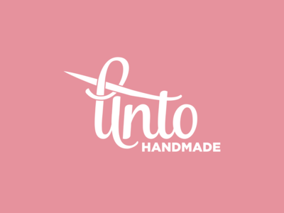 Unto Handmade Logo Design | Knitting Company string cotton thread handmade unto logo needle pin crochet knitting knit stitch