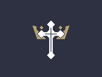 King's Cross Church Logo Design (Including Process) logo christian kings crown church cross king