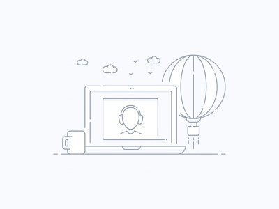 Help Center redesign. redesign laptop help center design illustration web icon