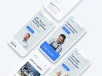 Mobile Web credit fin-tech fin tech web-design responsive typography design web