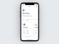 Interactions for doctors app doctors doctor ux design schedule ui mockup mobile iphone x ios interaction gif app health