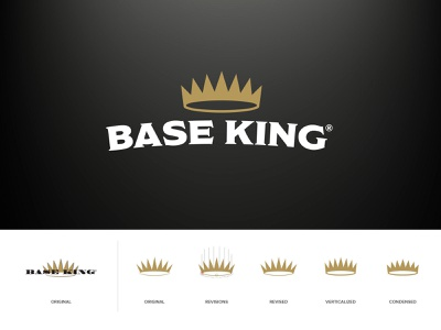 Base King Logo Update identity industrial brand refresh redesign brand logos crown branding design branding