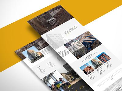 Website for Real Estate Ventures home page property management web design website real estate