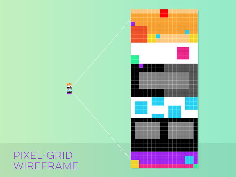 Pixelgridwireframe