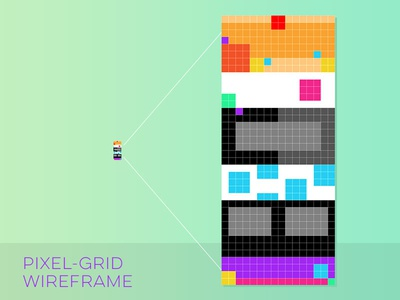 Pixel Grid Wireframe small tiny mockup website web design photoshop wireframe grid pixel pixel grid