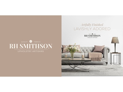 A Refined Mainstreet Brand print layout interior design fabric serif upholstery branding