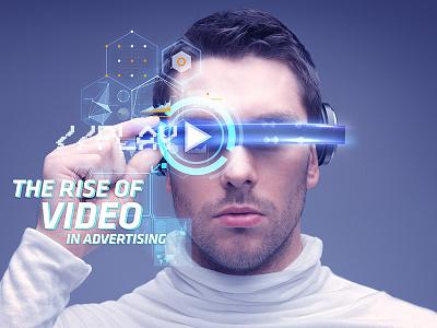 Video in Advertising future retro icon iconography portrait video 3d destruction typography