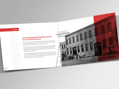 A History in Iron industrial brochure multiply halftone historic 2 color page layout