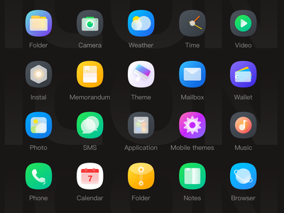 Frosted glass ICON icon color ui