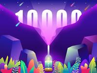 The Team Broke 10000 Fans