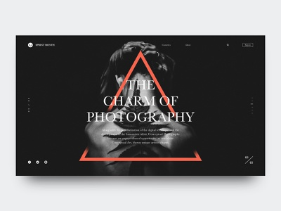 The Charm of Photography ps,sketch design web ui