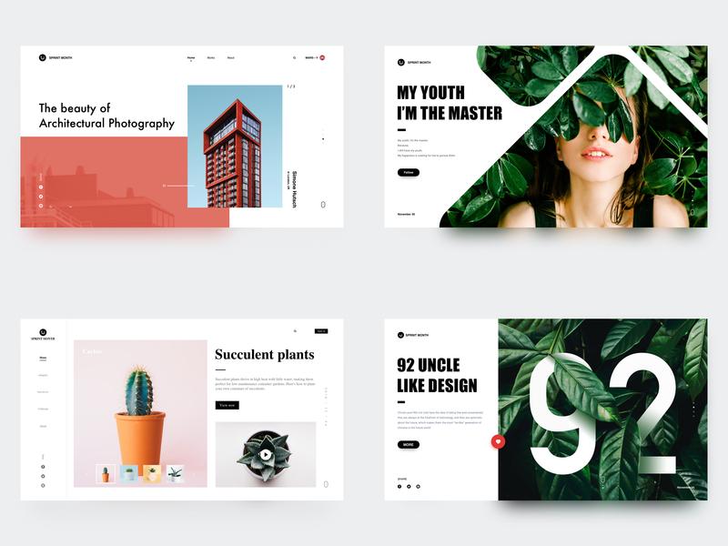 2018-Top4 Shots design gif,sketch web ps,sketch ui