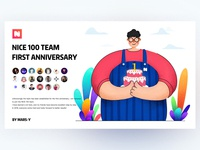 NICE 100 Team first Anniversary