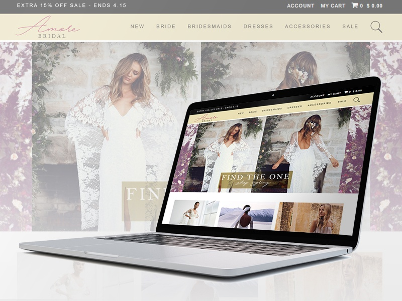 Bridal Store Website Wireframe