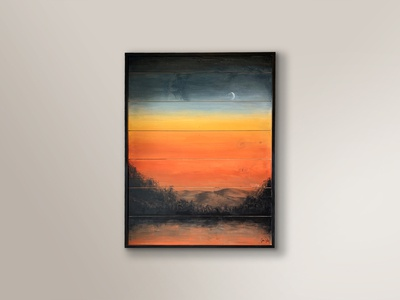 Sienna Sunset, Acrylic Painting