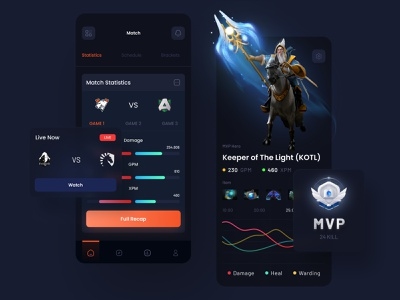 Game Match Recap 🎮 matches badge game designer stats statistics gaming app game app game statistics gamer game design dota2 mvp match recap recap match statistics game match match gaming games game