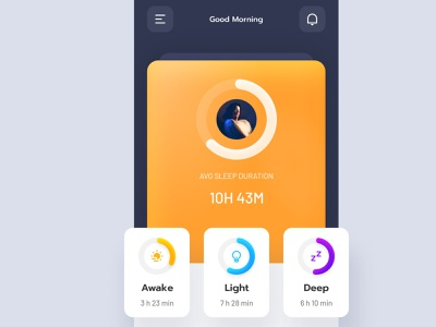 Sleep Tracker snoring watch assistant sleep assistant dark ui yellow monitoring sleep sleep score heart rate sleep duration noise statistic sleepy sleeping sleep track track sleep tracker sleep app sleep