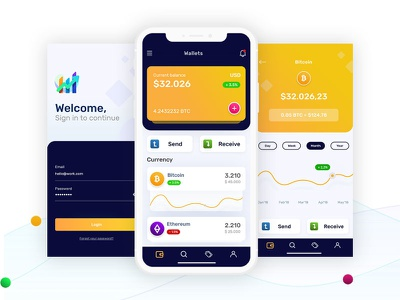 Cryptocurrency Wallets freebie xd freebie free app ethereum bitcoins wallet app wallets crypto currency ui