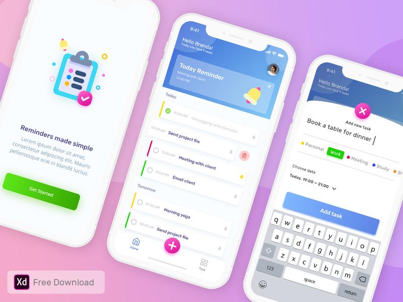 To-do list App Freebie
