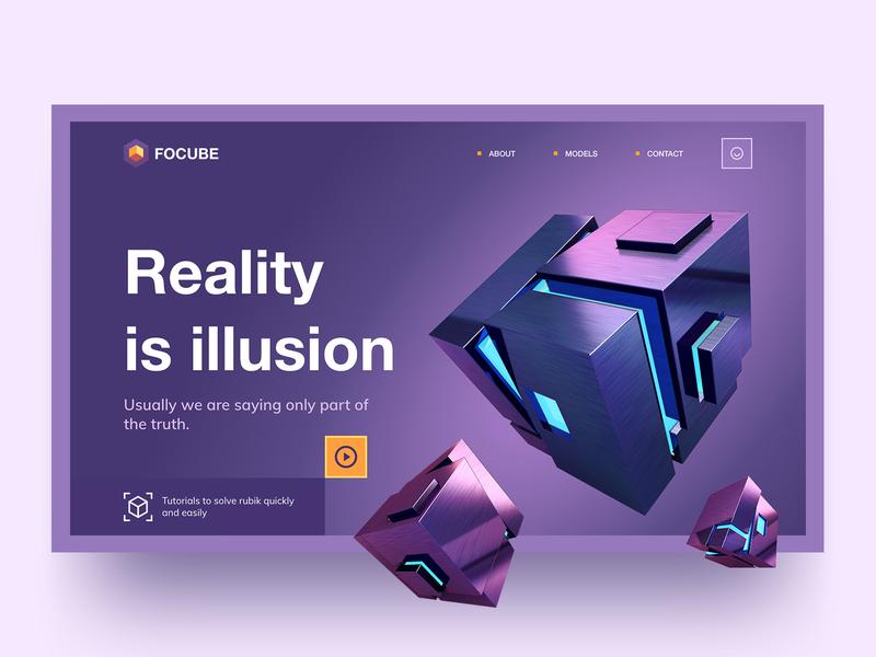 Cube Landing Page