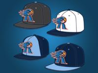 Rockford Riverhawks Hat Mock Up