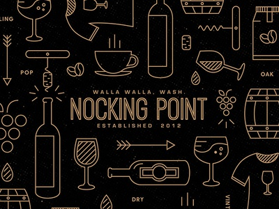 Nocking Point Pattern box food pattern icons pattern food and drink subscription box coffee packaging wine packaging food and beverage shipper food