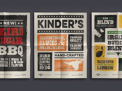 Kinders Posters food poster food and drink sauce trade show bbq sauce bbq illustration food design poster poster design