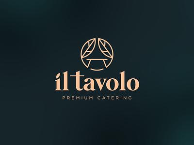 il tavolo Logo Design logo design branding redesign logo food food logo catering service restaurant logo logo designs logo design