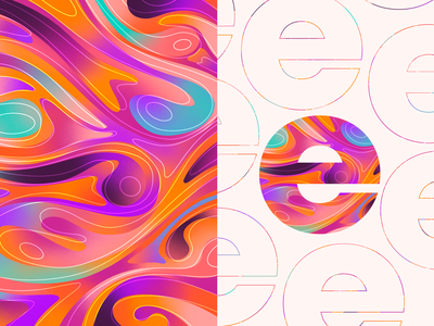 5/30 - Color Patterns wallpaper pattern procreate illustrations 30 day challenge branding abstract art abstract art design