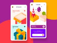 Rewards illustrations vector ux ui user experience user interface mobile rewards illustration design