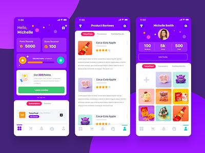Product Reviews App profile profile design dashboard ratings reviews design ux ui mobile mobile app design ios app design