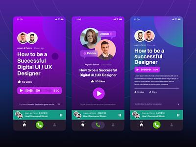 Podcast App podcast player uidesign ios mobile app ios app ui ios app design design user inteface ui design ui