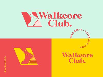 Walkcore Club vector illustration icon icons logo illustrations art design branding design logo design logodesign branding
