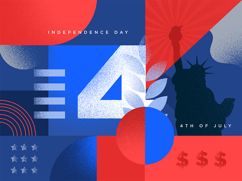 Happy Independence Day! digital art vector illustrations independence 4th of july