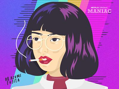 Dr. Azumi Fujita photoshop illustrator vector drawing illustration maniac netflix fanart design illustrations art