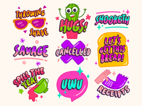 Millenial Sticker Pack | Snapchat