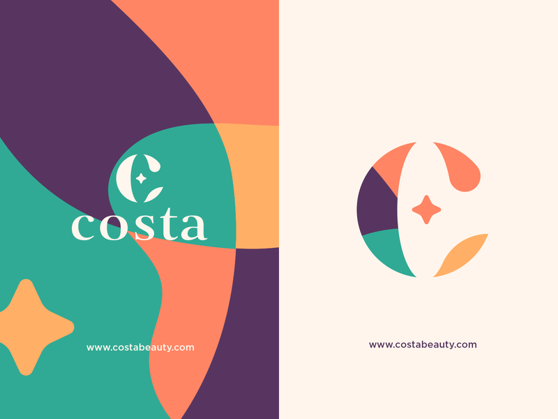 Costa Beauty | Logo Concept cosmetics beauty icon vector branding illustration design monogram logo monogram logo designer logodesign logo