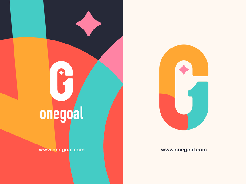Onegoal | Logo Design Concept vector logo icons illustration illustrations color brand identity brand design logodesign logos monogram logo branding monogram design