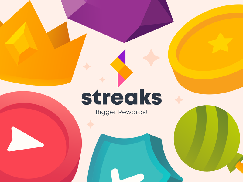 Streak Rebrand icon app vector illustration icons branding design illustrations