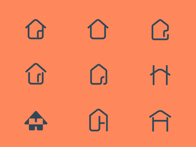 House Icons Exploration letter home illustration branding tyse design boogaert mathijs mark exploration explore logo icon house