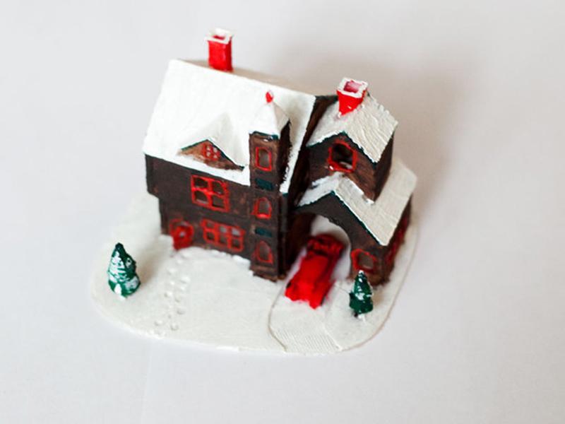 3D printed Christmas house mathijs boogaert boogaert mathijs snow snowy holiday design print house christmas printed 3d