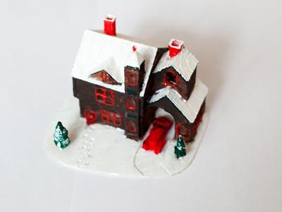3D printed Christmas house